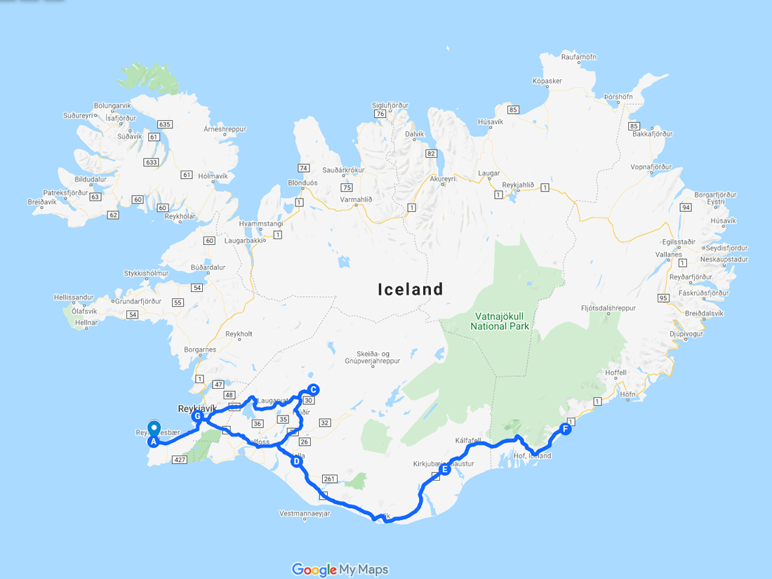 Golden Circle & South Iceland. 6-Day Self-Drive Tour